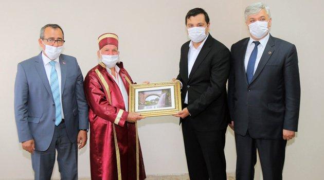 Ahilik Haftası Etkinlikleri Kapsamında, Başkan Çakın'a Ziyaret