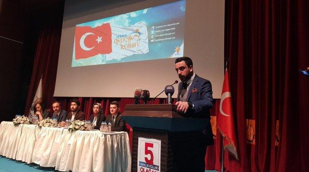 Ak Parti Uşak Gençlik Kolları 5. Olağan Kongresinde Ahmet MILLIK güven tazeledi..