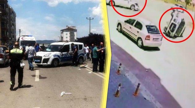 Alkollü Sürücü, Polis Aracına Çarptı
