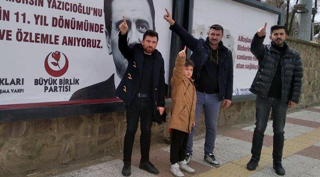 Alperen Ocakları Uşak İl Başkanlığı, Muhsin Yazıcıoğlu'nu Andı