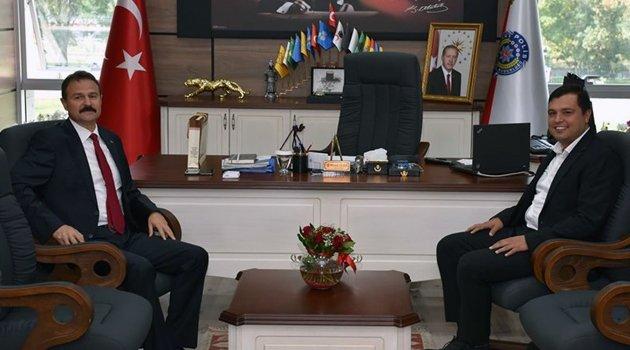 Başkan Çakın'dan,  İl Emniyet Müdürü Mesut Gezer'e Ziyaret!