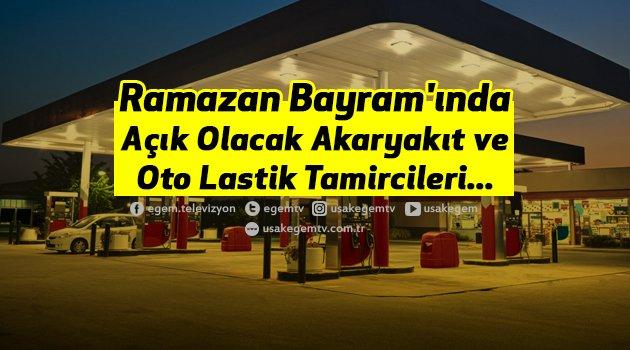 Bayram'da Açık Olacak Akaryakıt ve Oto Lastik Tamircileri...