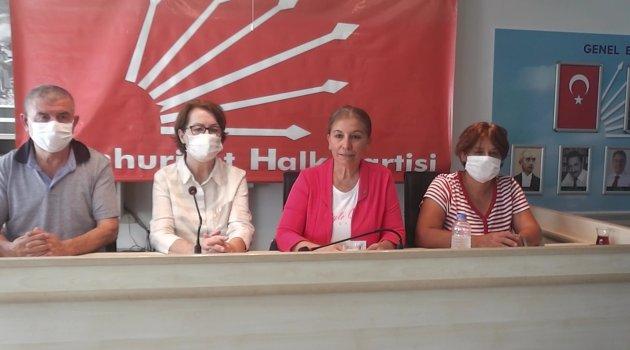 """CHP Uşak Kadın Kolları Başkanı Ayşe Ayaz, """"İstanbul Sözleşmesi kırmızı çizgimizdir"""""""