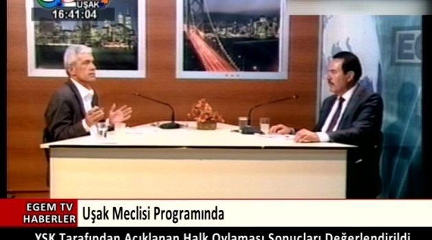 Egem Tv'de Canlı Olarak Yayınlanan Uşak Meclisinde Gündem Değerlendirildi
