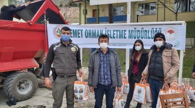Emet Orman İşletme Müdürlüğü 10 bin fidan dağıttı