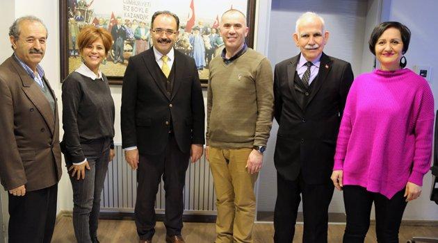 Gönül elçilerinden Başkan Cahan'a Teşekkür Ziyareti