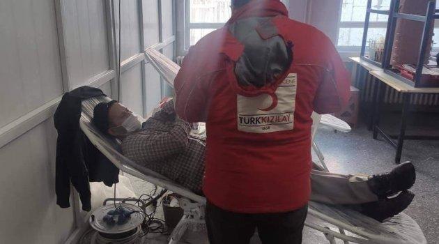 Köyde kan bağışı kampanyası