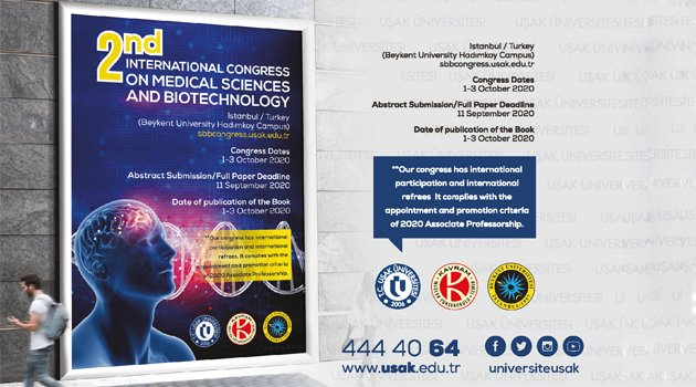 2. Uluslararası Sağlık Bilimleri ve Biyoteknoloji Kongresi Başlıyor