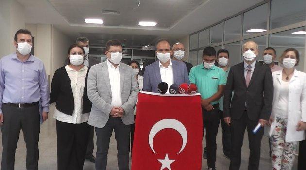 AK Parti Uşak Milletvekili İsmail Güneş, Uşak Eğitim Araştırma Hastanesi Ek Binasında İncelemelerde Bulundu.