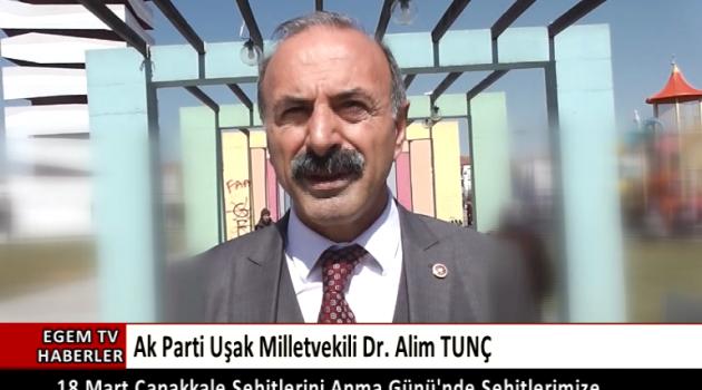 Alim TUNÇ'un 18 Mart Mesajı.