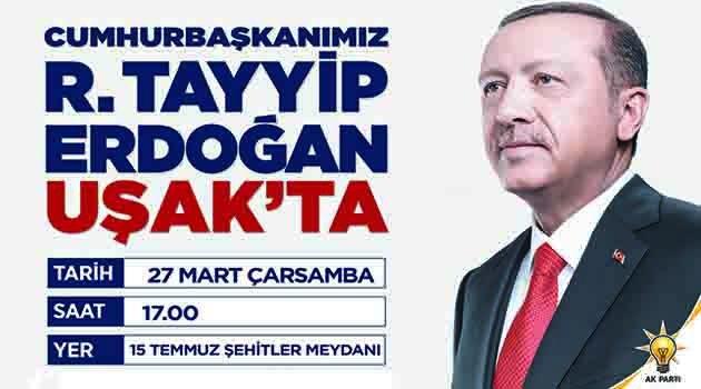 Cumhurbaşkanı Recep Tayyip Erdoğan Uşak'ta