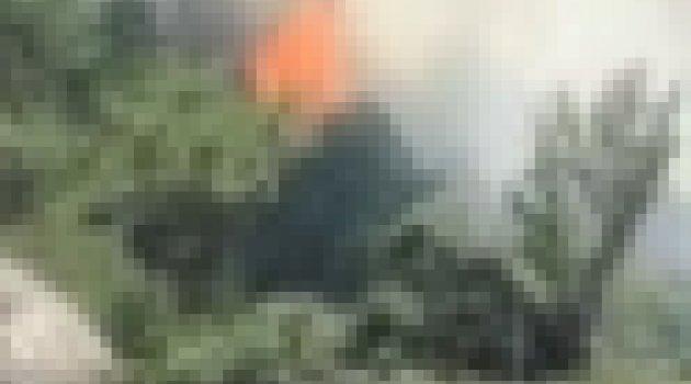 Dört Bir Yanımız Alev Alev Yanıyor.Uşak'ta Orman Yangını