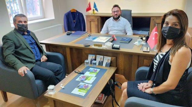 Egem TV yönetiminden, Uşak Deva Partisi İl Başkanlığı'na ziyaret.