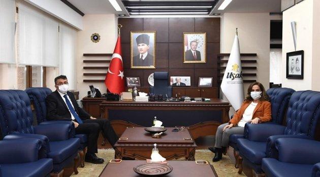 Kütahya Valisi Ali Çelik'ten, Vali Funda Kocabıyık'a Ziyaret