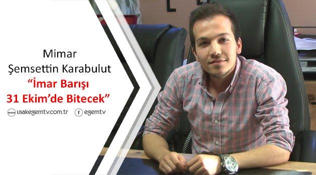 Mimar Şemsettin Karabulut, İmar Barışı yasası hakkında bilgiler verdi.