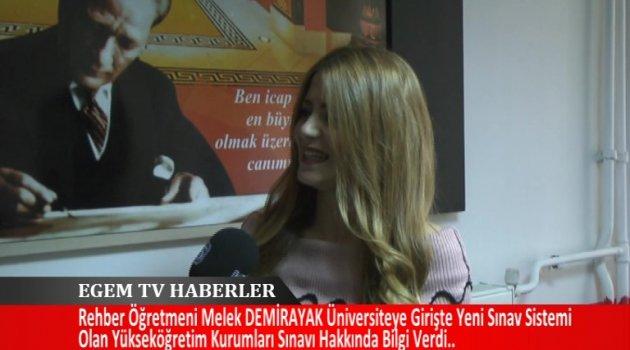 Rehber Öğretmeni Melek Demirayak, Yeni Sınav Sistemi Olan  Yüksek Öğretime Geçiş  Sınavı Hakkında Bilgiler Verdi.