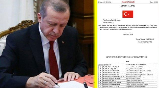 Rektör Atamaları, Resmi Gazetede Yayımlandı