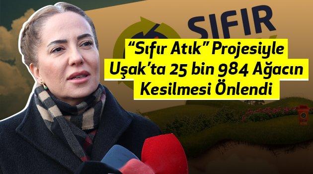 """""""Sıfır Atık"""" projesiyle Uşak'ta 25 bin 984 ağacın kesilmesi önlendi"""