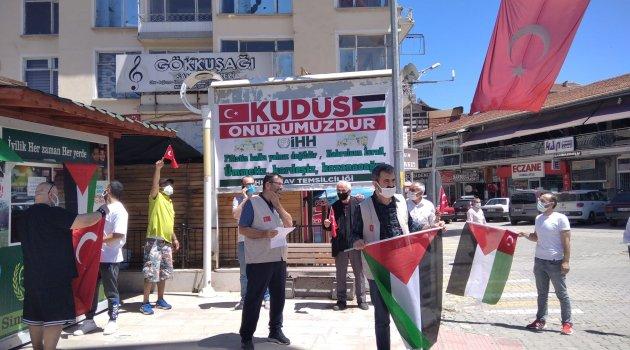 Simav'dan İsrail'e protesto