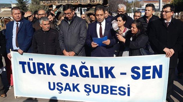 """Türk Sağlık-Sen Uşak Şube Başkanı Mehmet Özkuk """"Döner sermayelerimiz emekliliğe yansıtılmalıdır"""""""