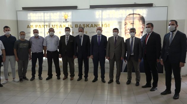 Ulaştırma ve Altyapı Bakanı Adil Karaismailoğlu'ndan AK Parti Uşak İl Başkanlığına Ziyaret!