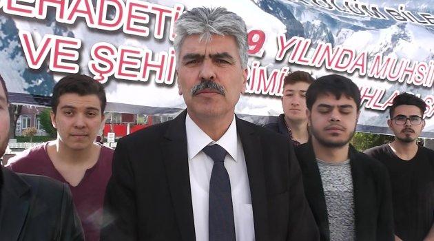 """Uşak Alperen Ocakları Başkanı Mehmet Sezer """"Şehit Liderimizi Anıyoruz."""""""
