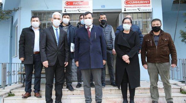 Uşak Belediye Başkanı Mehmet Çakın, Mahalle Muhtarları İle Görüştü.