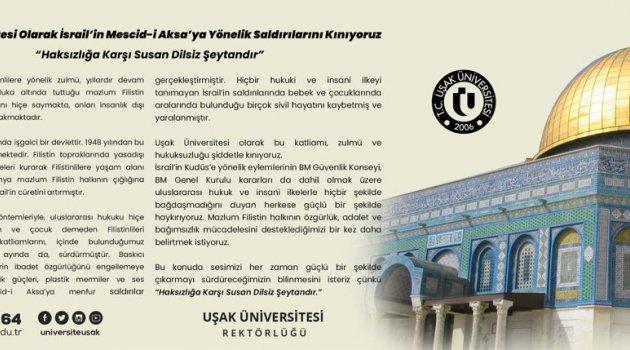 """Uşak Üniversitesi """"Haksızlığa Karşı Susan Dilsiz Şeytandır"""""""