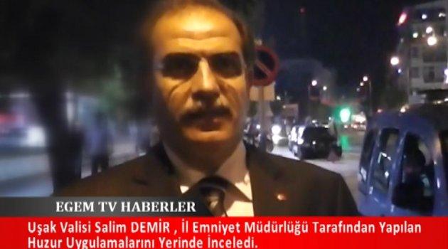 """Uşak'ta 150 polisin katıldığı """"huzur operasyonu"""" yapıldı."""
