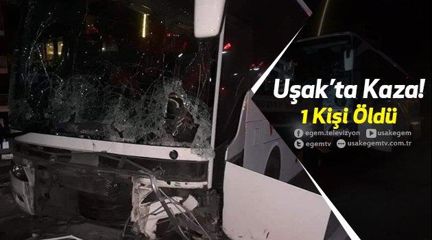 Yolcu Otobüsü Bariyerlere Çarptı