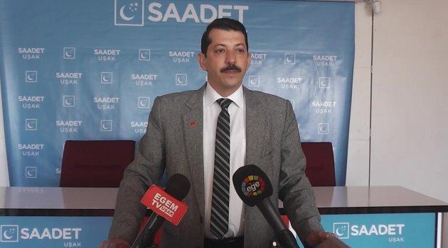 Saadet Partisi Uşak İl Başkanı İbrahim Dağgezen'den 'Barış' Çağrısı