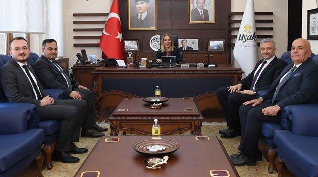 Simav Kaymakamı Türker Çağatay Halim ve Simav Belediye Başkanı Av. Adil Biçer'den Uşak Valisi Funda Kocabıyık'a Ziyaret