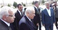 MHP Genel Başkanı Devlet Bahçeli, Manisa Mitingi öncesi Uşak'ta...