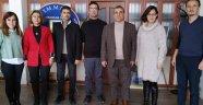Egem TV Yönetim Kurulu'ndan, Uşak Mimarlar Odası Yönetimine   Ziyaret
