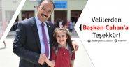 Velilerden Başkan Cahan'a Teşekkür!