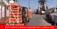 Katar'a 4 Bin Ton Gıda Malzemesi Gönerildi