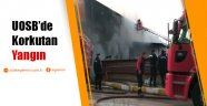 Uşak'ta Organize Sanayi Bölgesi'nde bir tekstil fabrikasında yangın çıktı.