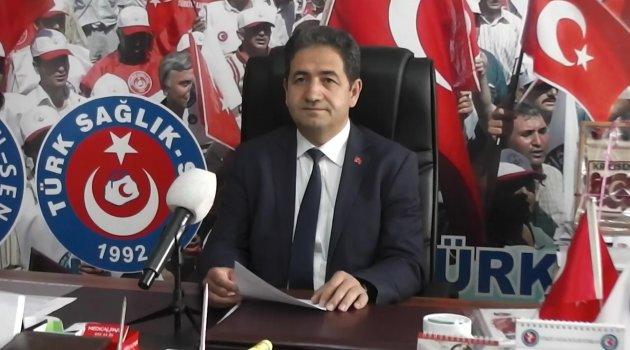 """Türk Sağlık-Sen Uşak Şube Başkanı Mehmet Özkuk, """"Bakanlık Sorunları Çözmeli"""""""