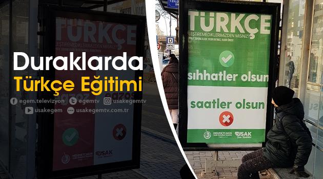Duraklarda Türkçe Eğitimi Projesi