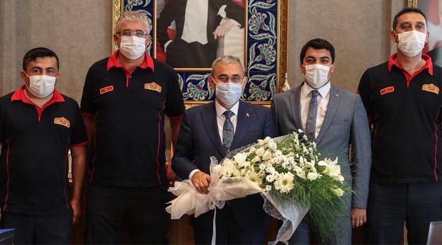 Kütahya Belediye Başkanı Prof. Dr. Alim IŞIK'a, İtfaiye Haftası Ziyareti