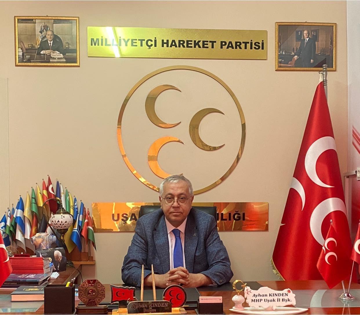 """MHP Uşak İl Başkanı Ayhan KINDEN """"HDP İl Binasına gerçekleştirilen saldırı toplumu test etmek amacı gütmektedir."""""""