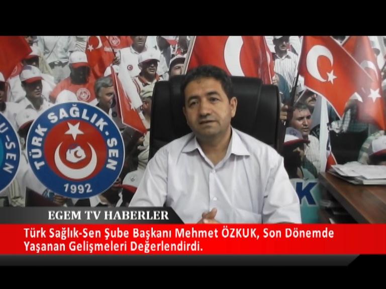 Türk Sağlık Sen Uşak Şube Başkanı Mehmet Özkuk Son Dönemde Yaşanan Gelişmeleri Değerlendirdi.