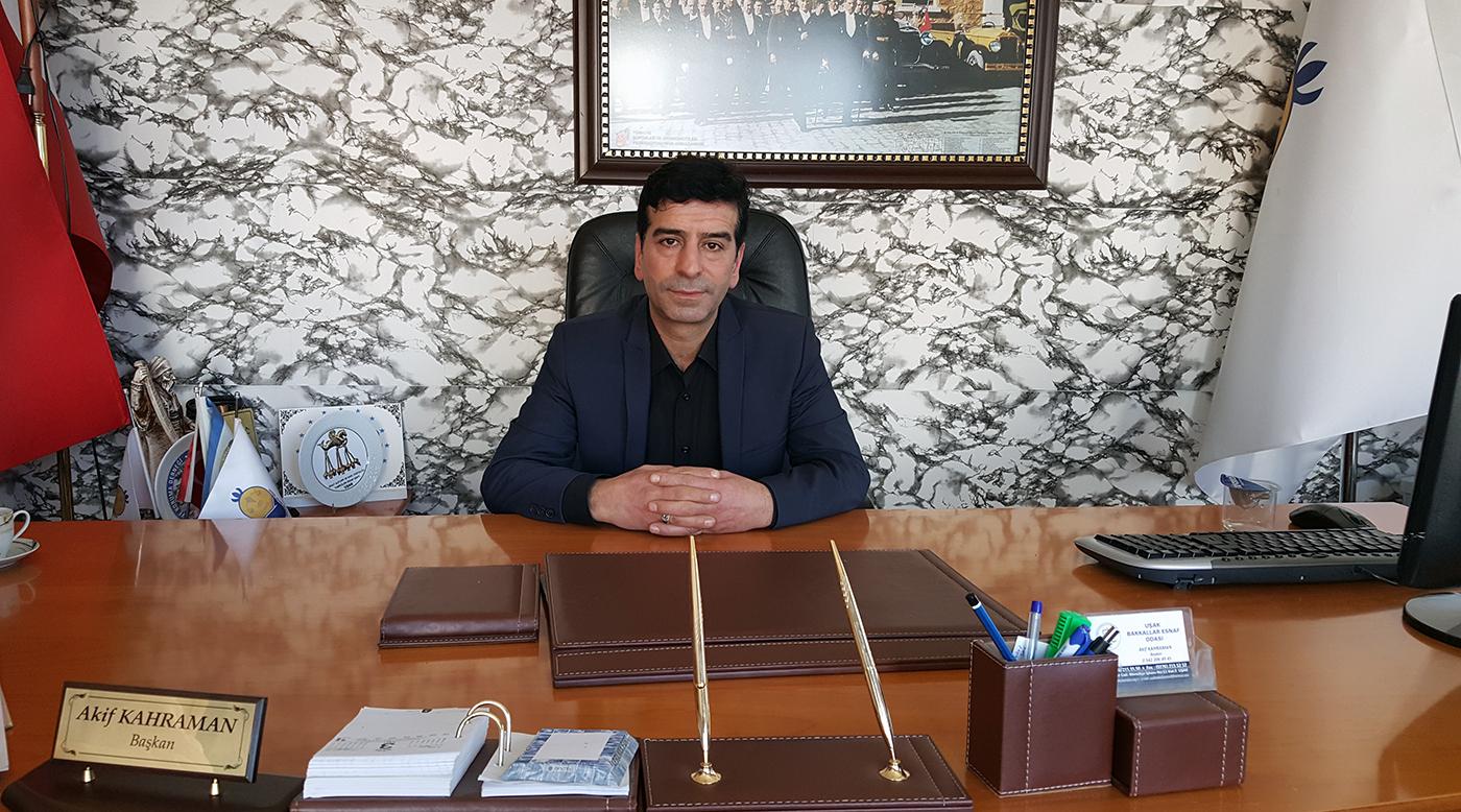 Uşak Bakkallar ve Bayiler Esnaf Odası Başkanı Akif Kahraman