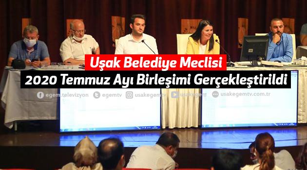 Uşak Belediye Meclisi 2020 Temmuz Ayı Birleşimi Gerçekleştirildi