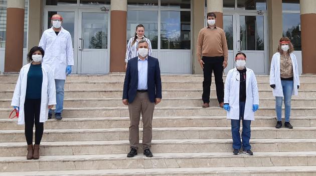 Uşak TOBB Meslek Teknik Anadolu Lisesi'nden 6 Ton Dezenfektan Üretimi!