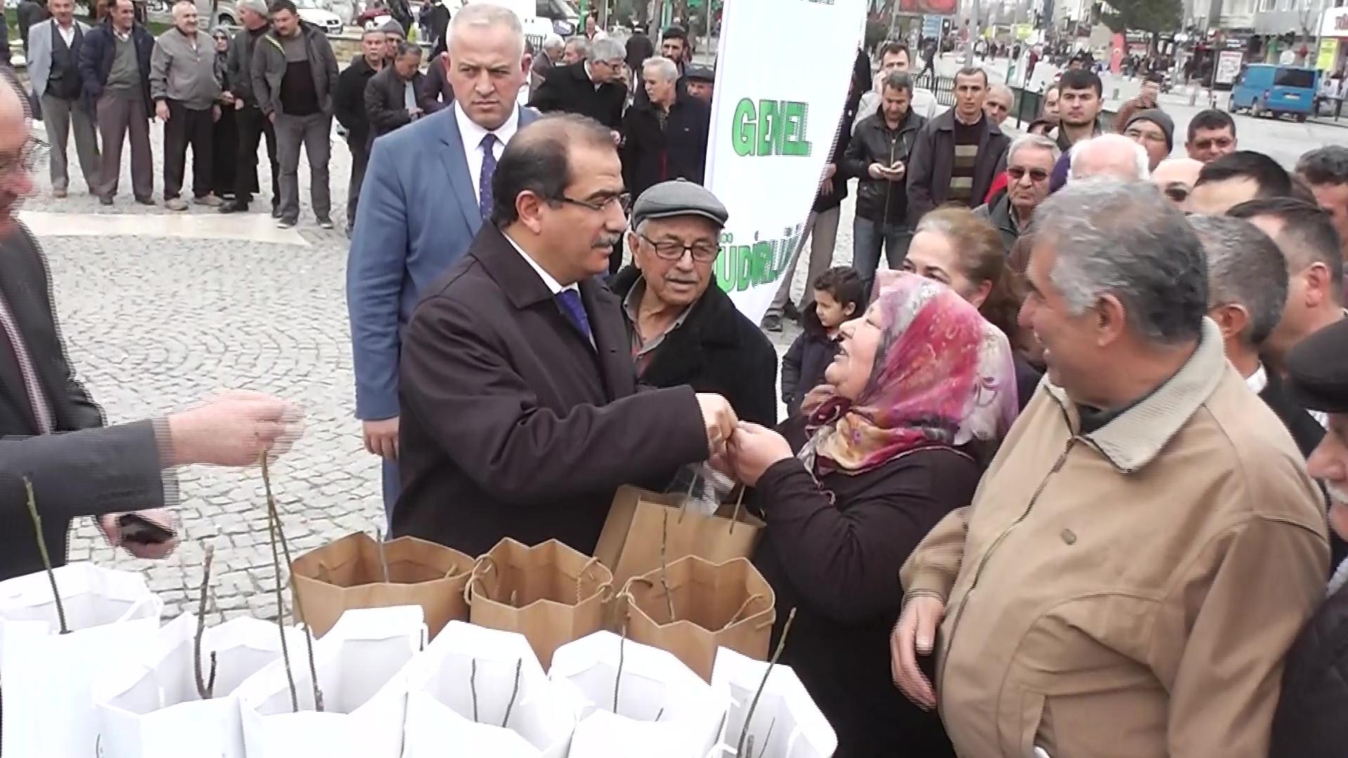 Vali Salim Demir, Orman Bakanlığı Tarafından Hazırlanan Ağaç Fidanlarını Halka Dağıttı