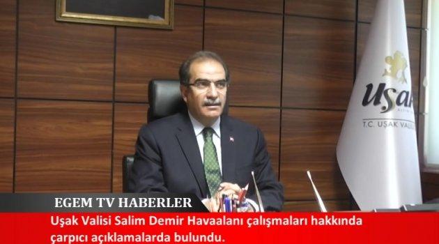 Uşak Valisi Salim Demir Havaalanı Çalışmaları Hakkında Bilgiler Verdi.