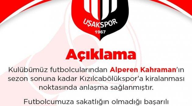 Uşakspor, Alperen Kahraman'ı Kızılcabölükspor'a kiraladı
