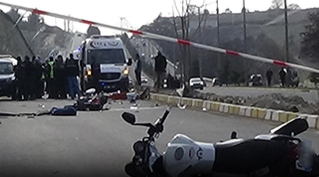 Uşak'ta Feci Motorsiklet Kazası