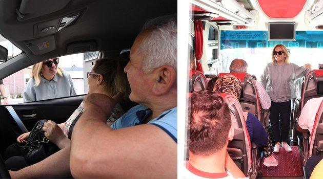 Vali Funda Kocabıyık, trafik denetimine katıldı
